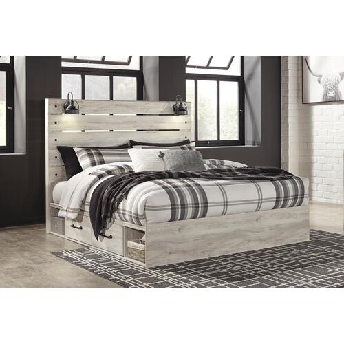 Cambeck - Whitewash 4 Piece Bed Set (King)