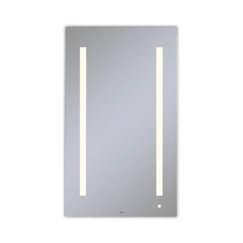 """Aio 23-1/8"""" X 39-1/4"""" X 1-1/2"""" Lighted Mirror With Lum Lighting At 2700 Kelvin Temperature (warm Light), Dimmable, Usb Charging Ports and Om Audio"""