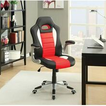 See Details - ACME Nolen Office Chair - 92306 - Black & Red PU