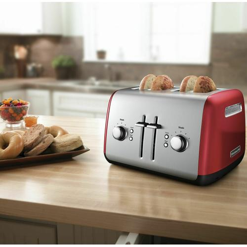 Gallery - 4-Slice Toaster with Manual High-Lift Lever - Empire Red