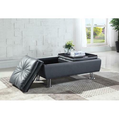 Dilleston Contemporary Grey Storage Ottoman