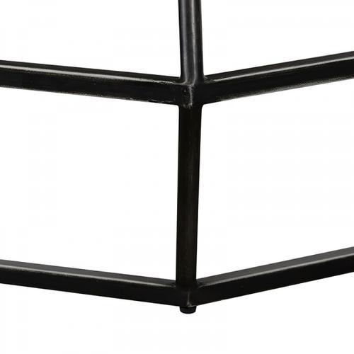VIG Furniture - Modrest Tartan Modern Concrete & Black Metal Coffee Table