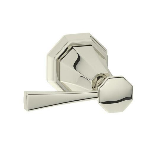 Deco Tank Trip Arm - Polished Nickel with Metal Lever Handle