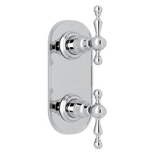 "Polished Chrome Arcana 1/2"" Thermostatic/Diverter Control Trim with Arcana Series Only Ornate Metal Lever Product Image"