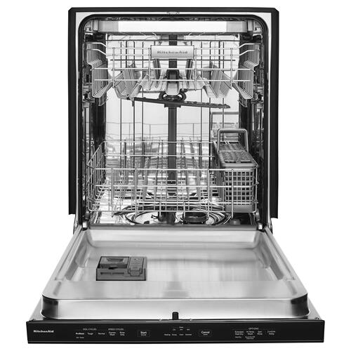 46 DBA Dishwasher with Third Level Rack and PrintShield Finish, Pocket Handle Black Stainless Steel with PrintShield™ Finish