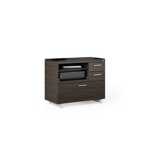 BDI Furniture - Sequel 20 6117 Multifunction Cabinet in Charcoal Satin Nickel