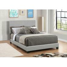 Dorian Grey Faux Leather Upholstered California King Bed