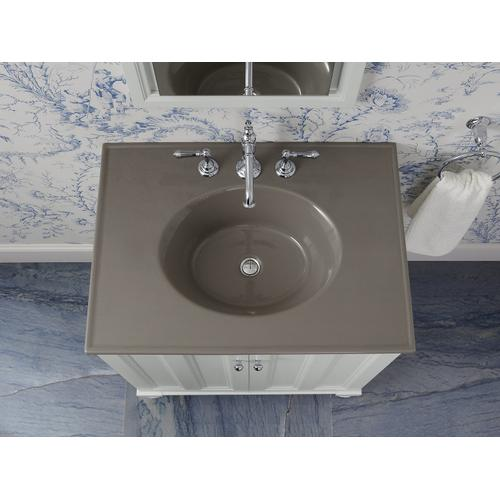 "Cashmere Impressions 31"" Oval Vanity-top Bathroom Sink With 8"" Widespread Faucet Holes"