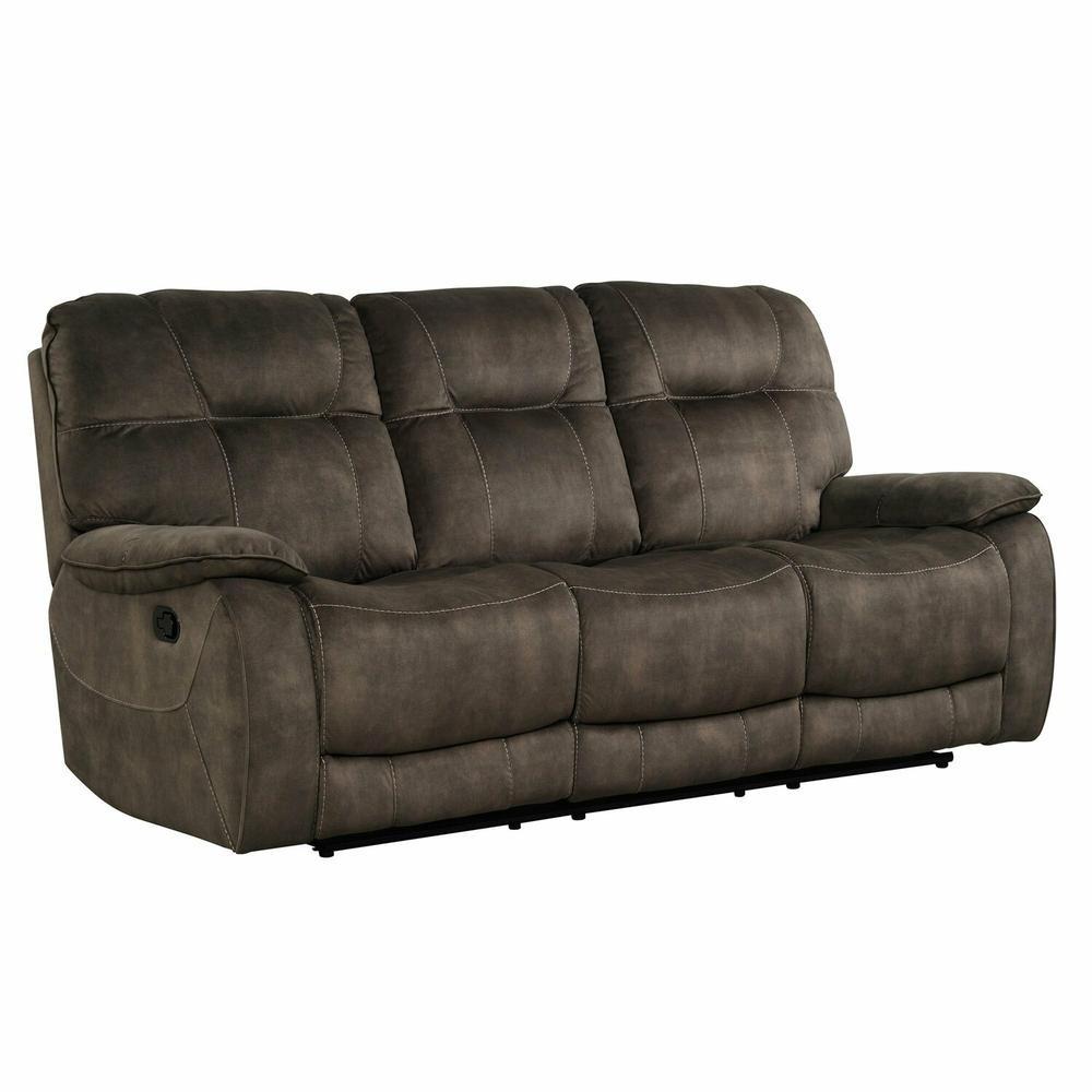 COOPER - SHADOW BROWN Manual Triple Reclining Sofa