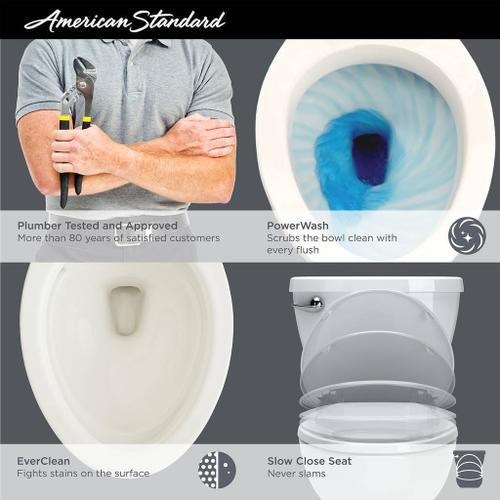 Cadet 3 Tall Height 2-Piece 1.28 GPF Single Flush Round Toilet with Slow-Close Seat - White