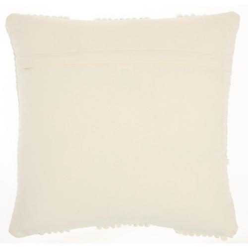 """Life Styles Gc103 Ivory 18"""" X 18"""" Throw Pillow"""