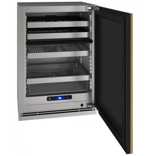 """U-Line - Hbd524 24"""" Dual-zone Beverage Center With Integrated Solid Finish and Field Reversible Door Swing (115 V/60 Hz Volts /60 Hz Hz)"""