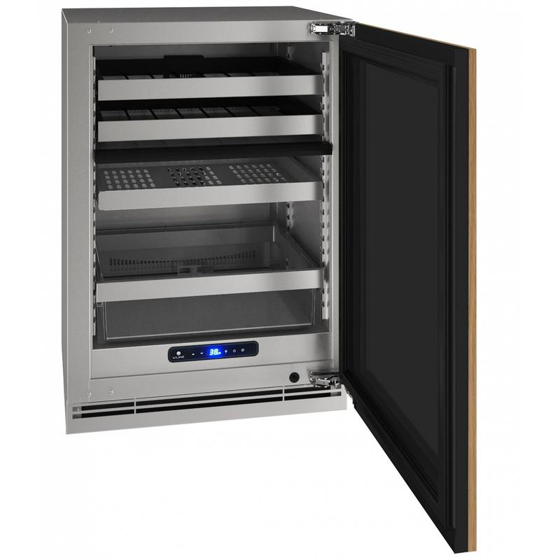 """Hbd524 24"""" Dual-zone Beverage Center With Integrated Solid Finish and Field Reversible Door Swing (115 V/60 Hz Volts /60 Hz Hz)"""