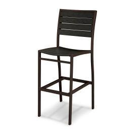Polywood Furnishings - Eurou2122 Bar Side Chair in Textured Bronze / Black