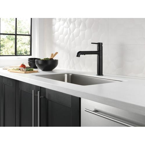 4159bldst In Matte Black By Delta Faucet Company In Atlanta Ga Matte Black Single Handle Pull Out Kitchen Faucet