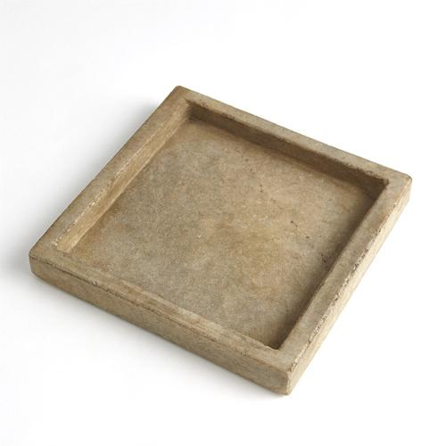 Global Views - Marble Tray-Antiqued White
