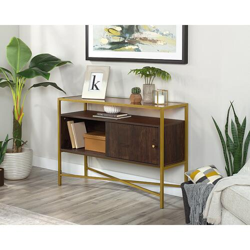 Sauder - Contemporary Glass-Top Accent Storage Table