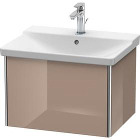 Vanity Unit Wall-mounted, Cappuccino High Gloss (lacquer)