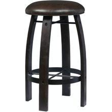 See Details - Whiskey Barrel Bar Stool - Stout