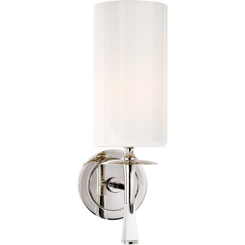 AERIN Drunmore 1 Light 5 inch Polished Nickel with Crystal Single Sconce Wall Light