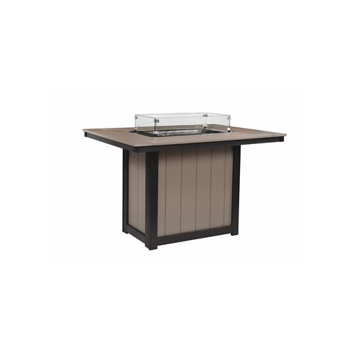 Donoma Rectanguar Counter Hight Fire Table