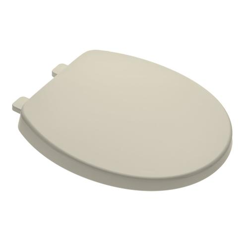 Telescoping Round Front Toilet Seat With Slow-Close and EverClean - Bone