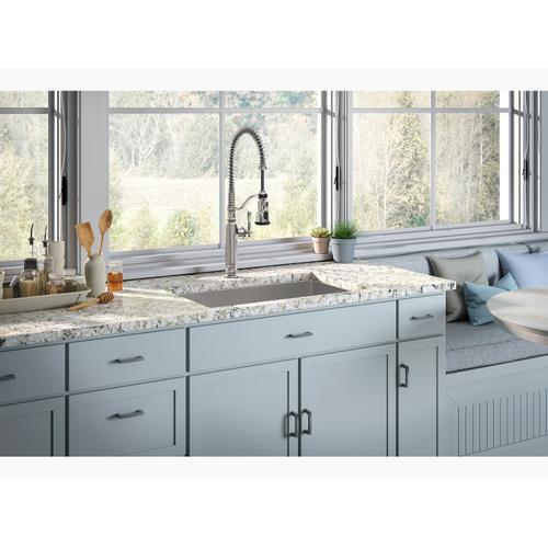 "29"" X 18-5/16"" X 9-5/16"" Undermount Single-bowl Medium Kitchen Sink With Rack"
