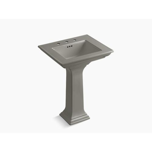 """Cashmere 24"""" Pedestal Bathroom Sink With 8"""" Widespread Faucet Holes"""