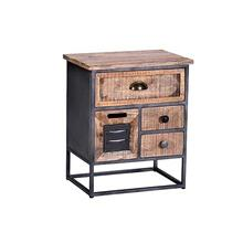 Nightstand - Natural/Iron Finish