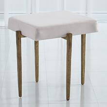 Laforge Bench-Antique Gold w/Muslin Cushion-Sm