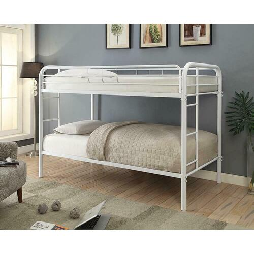 Morgan White Twin Bunk Bed