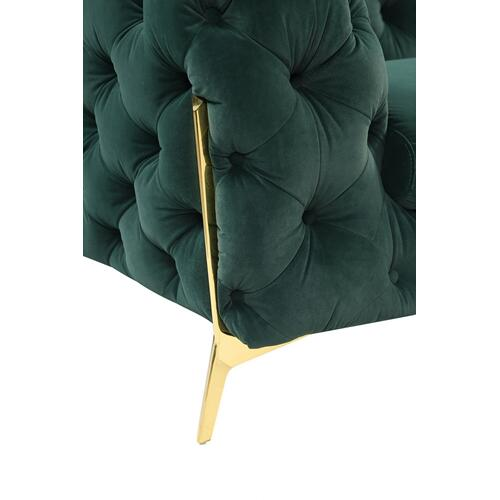 VIG Furniture - Divani Casa Quincey - Transitional Emerald Green Velvet Chair