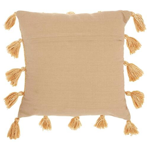 "Life Styles Dl005 Mustard 18"" X 18"" Throw Pillow"