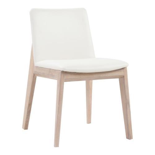 Deco Oak Dining Chair White Pvc-m2