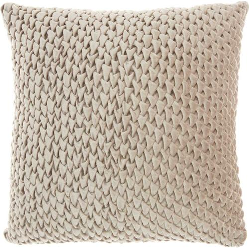 "Life Styles Sc001 Beige 18"" X 18"" Throw Pillow"