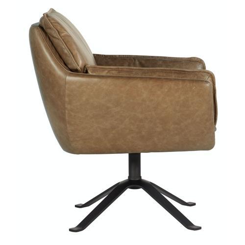 Living Room Limber Metal Base Swivel Club Chair