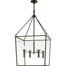 View Product - Barbara Barry Cochere 4 Light 24 inch Bronze Lantern Pendant Ceiling Light, Large