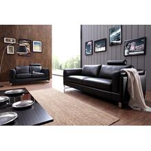 See Details - Divani Casa 0875 Modern Black Leather Sofa Set