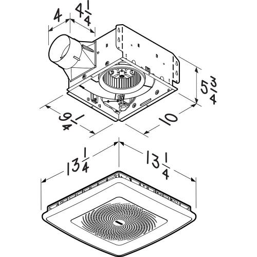 """Product Image - Broan-NuTone® Wall Vent Kit, 3"""" or 4"""" Round Duct"""