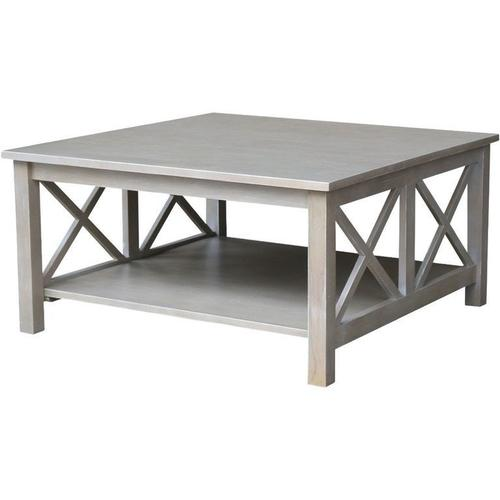 Hampton Square Coffee Table in Taupe Gray