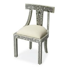 See Details - The combination of bone and wood make this traditional accent chair a stylish and durable seating platform, suitable to a plethora of spaces. This chair is ideal for anyone looking for quick and easy classic style. The chair looks great from any angle; the curved back and tight weave adds a great texture to the seating surface.