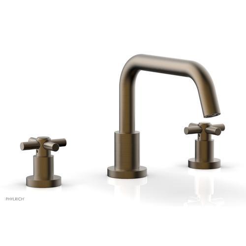 BASIC Deck Tub Set - Tubular Cross Handles D1136D - Old English Brass