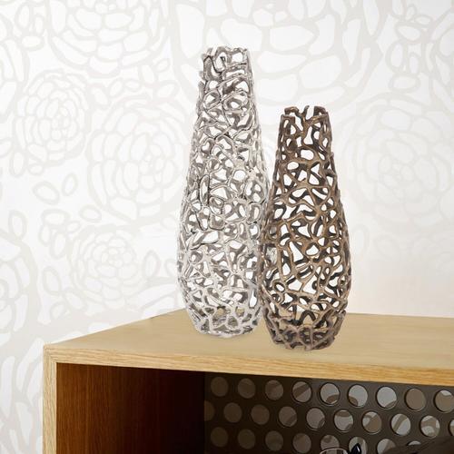 Howard Elliott - Silver Aluminum Branch Vase, Large