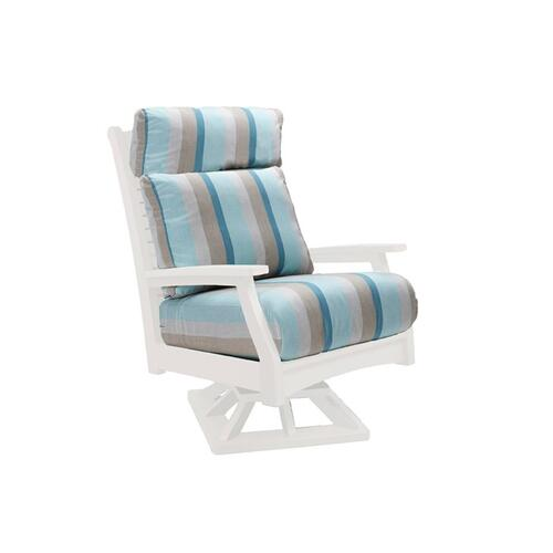 Classic Terrace High Back Swivel Rocker