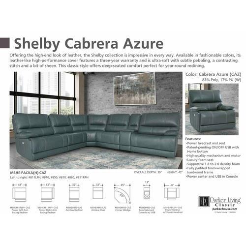 SHELBY - CABRERA AZURE Manual Armless Recliner