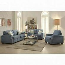 ACME Betisa Sofa w/2 Pillows - 52585 - Light Blue Fabric