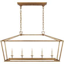 E. F. Chapman Darlana 5 Light 41 inch Gilded Iron Linear Lantern Ceiling Light
