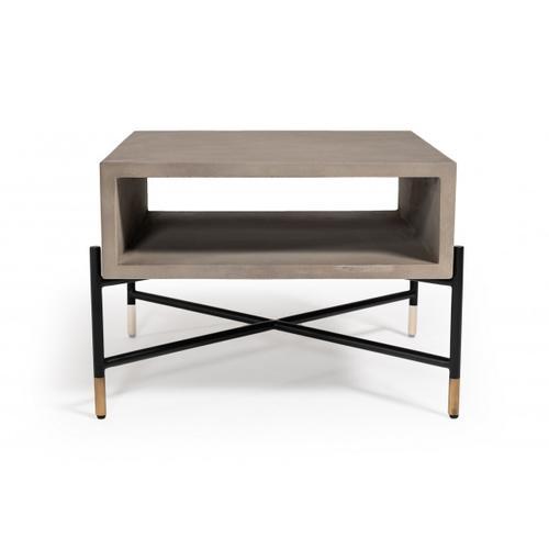 VIG Furniture - Modrest Walker Modern Concrete & Metal Coffee Table