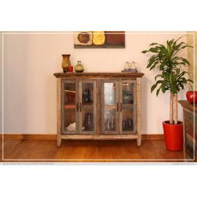 """See Details - 50"""" Console w/4 Glass Doors, Multi-Colors Finish"""