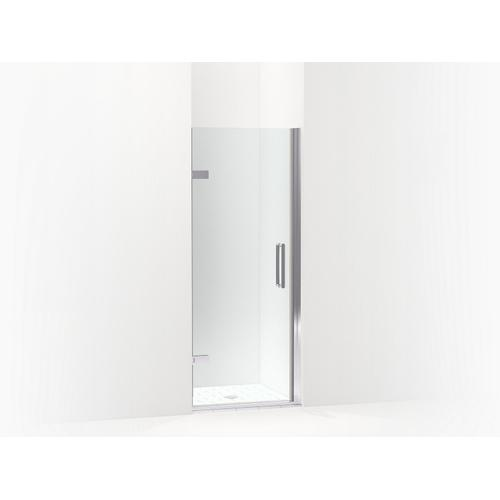 "Matte Black Frameless Pivot Shower Door, 71-5/8"" H X 29-5/8 - 30-3/8"" W, With 3/8"" Thick Crystal Clear Glass"